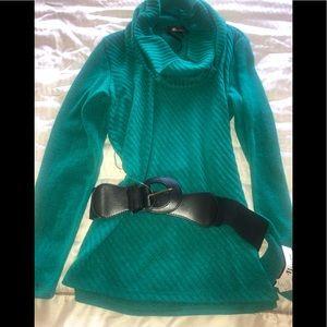 NWT AB Studio Green Cowl Neck Sweater